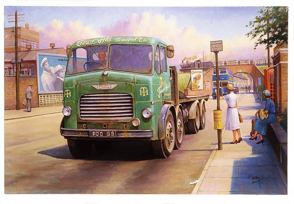 Wall Art - Painting - Tower Hill Transport. by Mike Jeffries