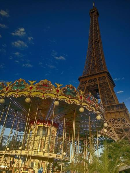 Ico Wall Art - Photograph - Carousel Tower by Mark J Dunn