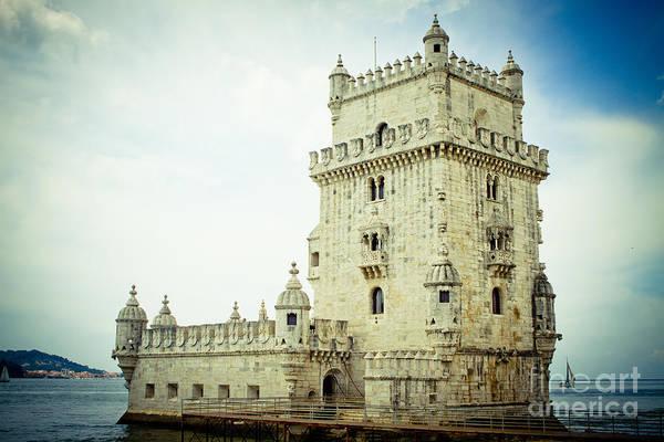 Photograph - Tower Of Belem Lisbon Raimond Klavins by Raimond Klavins