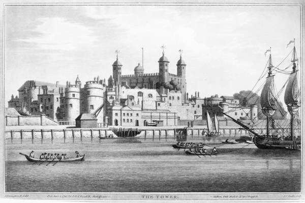 Wall Art - Painting - Tower Of London, 1795 by Granger