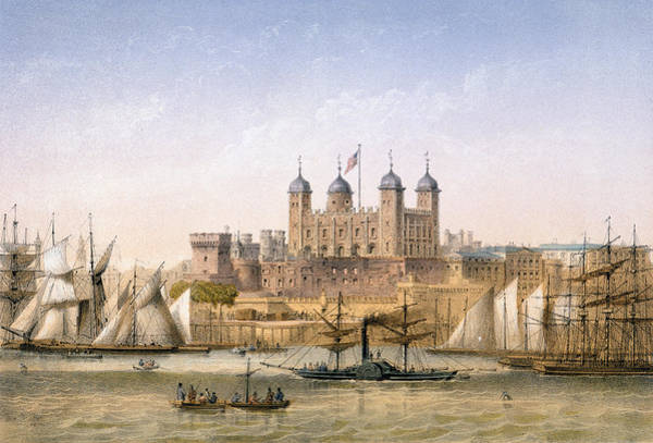 Wall Art - Painting - Tower Of London, 1862 by Achille-Louis Martinet