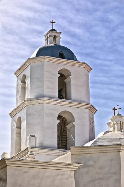 San Luis Rey De Francia Photograph - Tower Of San Luis Rey Mission by Jon Berghoff