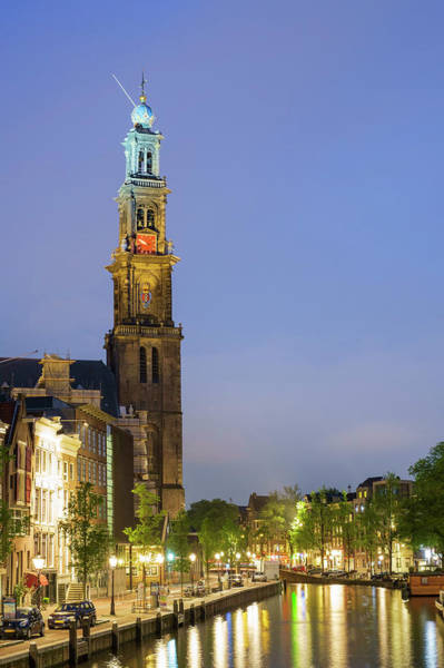 Prinsengracht Photograph - Tower Of The Westerkerk Church by Jason Langley