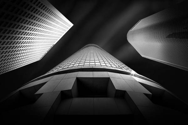 Office Buildings Wall Art - Photograph - Tower Wars 2 by Az Jackson