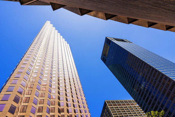 Photograph - Towering Downtown City Skyscrapers by Dszc