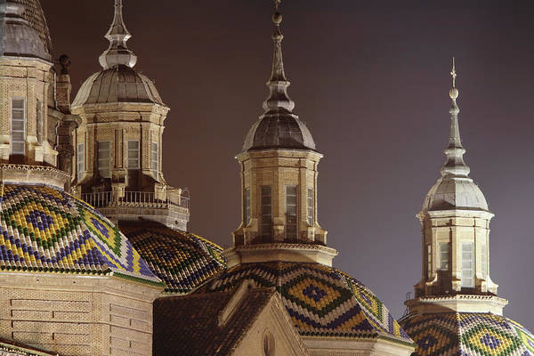 Aragon Photograph - Towers Of Cathedral Basilica De Nuestra by David Borland