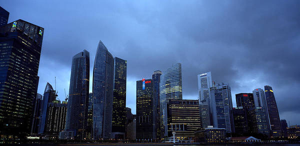 Photograph - Towers Of Singapore by Shaun Higson