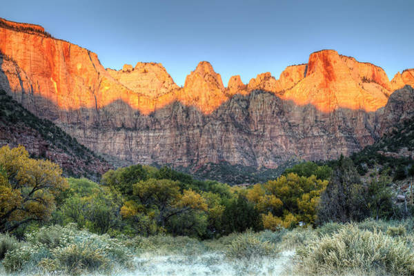 Photograph - Towers Of The Virgin Sunrise In Zion National Park by Pierre Leclerc Photography
