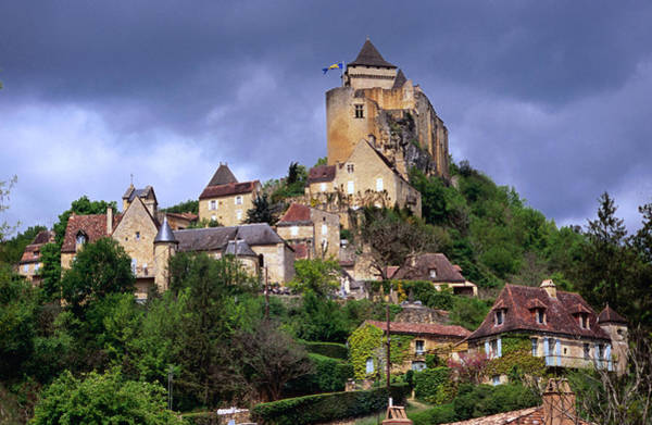 Chapelle Photograph - Town And Chateau De Castelnaud by Roberto Soncin Gerometta