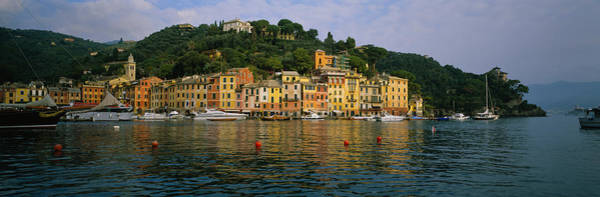 Portofino Photograph - Town At The Waterfront, Portofino, Italy by Panoramic Images