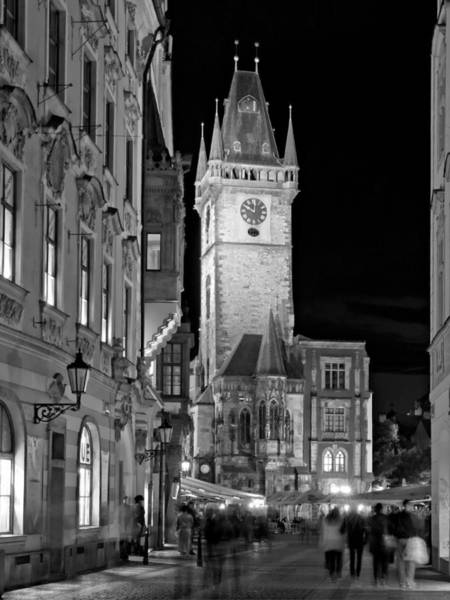 Photograph - Town Hall Clock Tower / Prague by Barry O Carroll