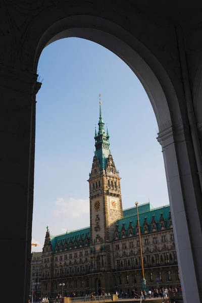 Rathaus Photograph - Town Hall Viewed Through An Arch by Panoramic Images