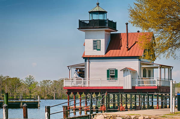 Screw Pile Wall Art - Photograph - Town Of Edenton Roanoke River Lighthouse In Nc by Alex Grichenko
