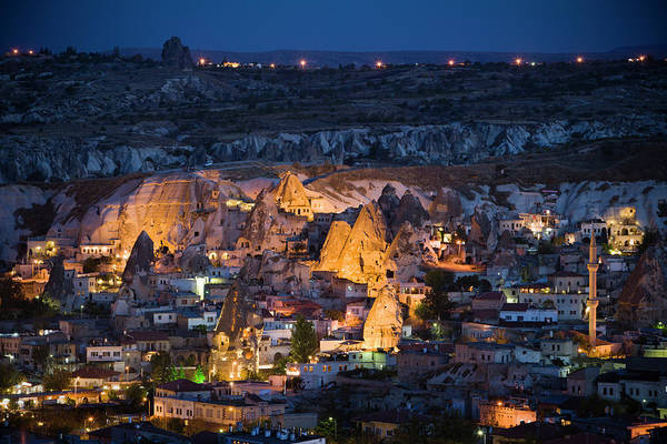 Nevsehir Photograph - Town Of Goreme And With Fairy Chimneys by Tim Gerard Barker