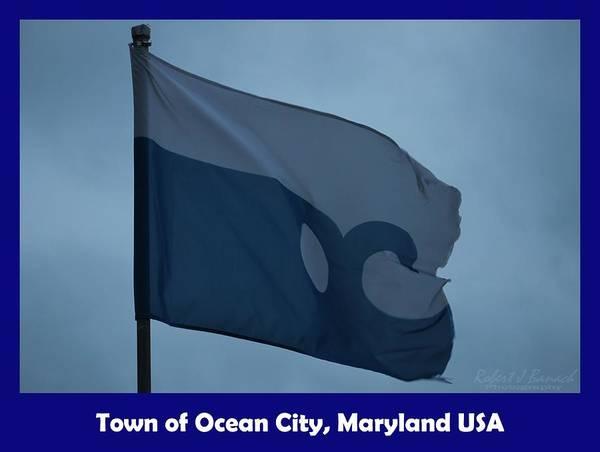 Photograph - Town Of Ocean City Flag by Robert Banach