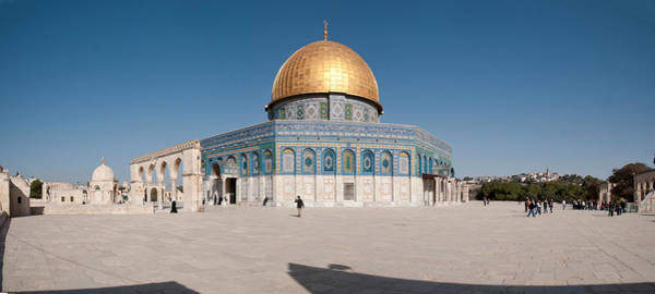 Wall Art - Photograph - Town Square, Dome Of The Rock, Temple by Panoramic Images