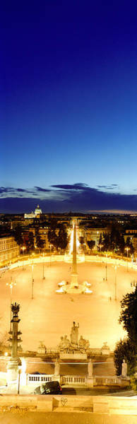 St Peters Basilica Photograph - Town Square With St. Peters Basilica by Panoramic Images