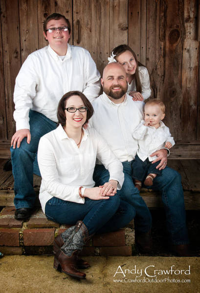 Photograph - Townsend Family Portrait by Andy Crawford