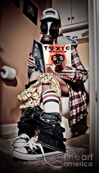 Toilet Paper Photograph - Toxic Bathroom Time by Jt PhotoDesign