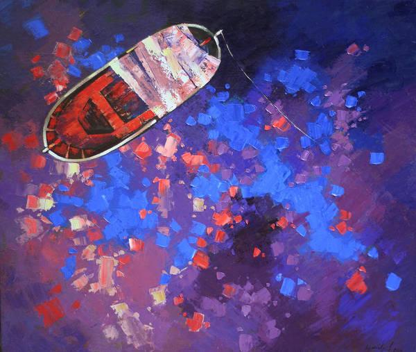 Wall Art - Painting - Toy Boat by Anastasija Kraineva