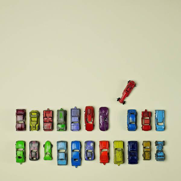 Parking Digital Art - Toy Cars by Juj Winn