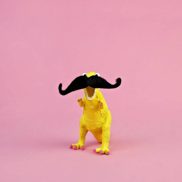 Copy Photograph - Toy Dinosaur With Mustache by Juj Winn