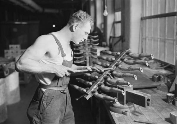 Doll Parts Photograph - Toy Factory, C1937 by Granger