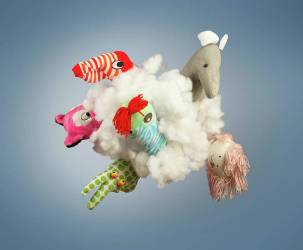 Coordination Wall Art - Photograph - Toy Figure In Cloud by Paul Taylor
