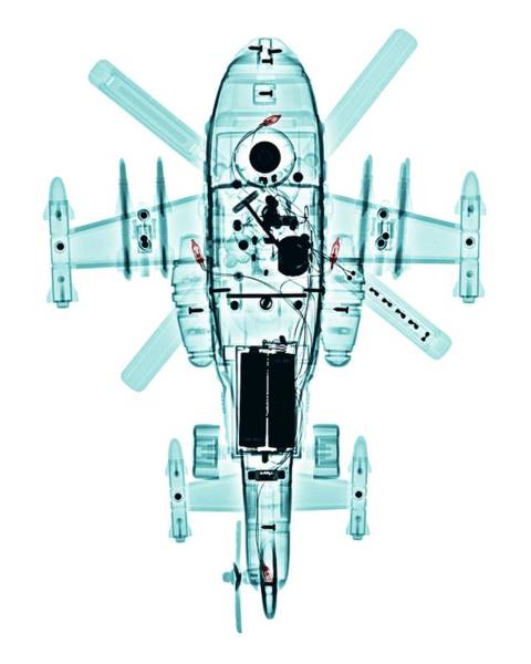 X-ray Photograph - Toy Helicopter by Brendan Fitzpatrick