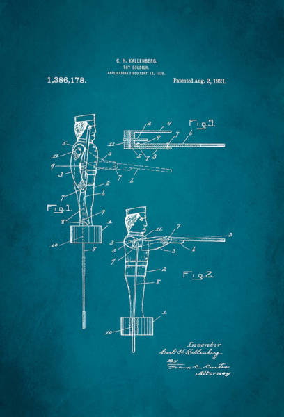 Toy Soldier Patent 1921 Art Print