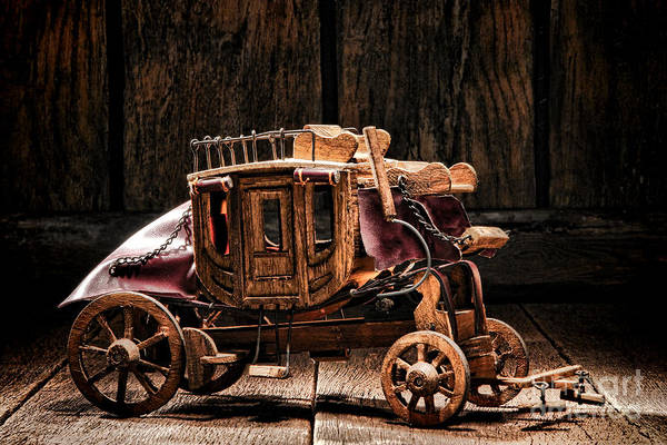 Photograph - Toy Stagecoach by Olivier Le Queinec