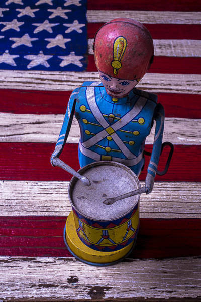 Wall Art - Photograph - Toy Tin Drummer by Garry Gay