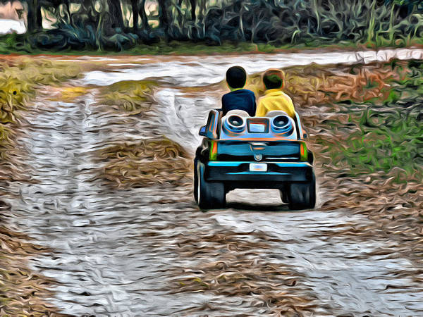 Photograph - Toy Truck Riders by Alice Gipson