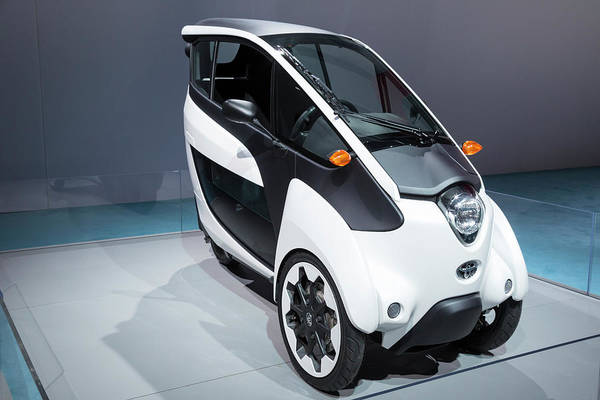 Plug-in Photograph - Toyota I-road Electric Vehicle by Jim West/science Photo Library
