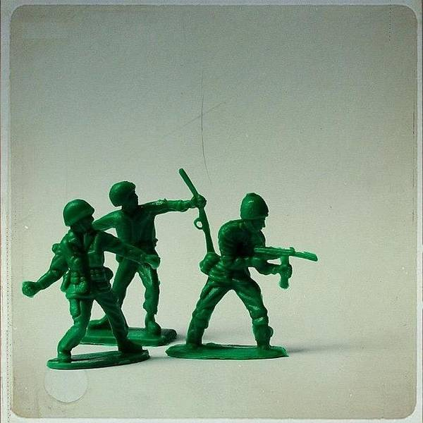 Weapon Photograph - #toys #army #armymen #weapons #toy by Sarah Skeen