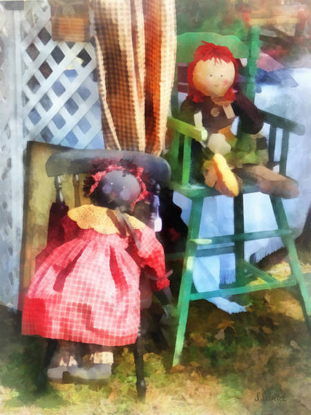 Photograph - Toys - Two Rag Dolls At Flea Market by Susan Savad