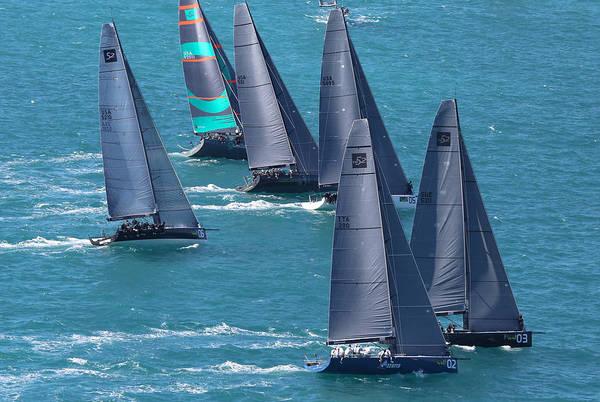 Photograph - Tp52 Start Key West by Steven Lapkin