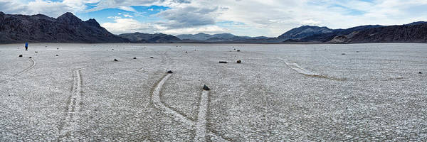 Racetrack Playa Photograph - Track Created By One Of The Mysterious by Panoramic Images
