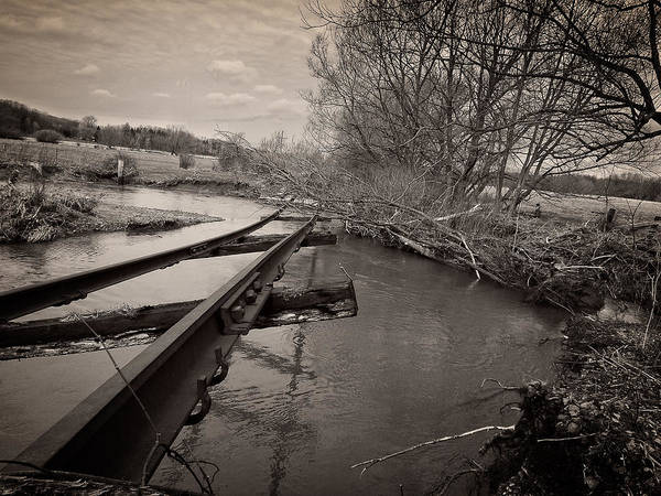 Photograph - Tracks Washed Out by Chris Bordeleau