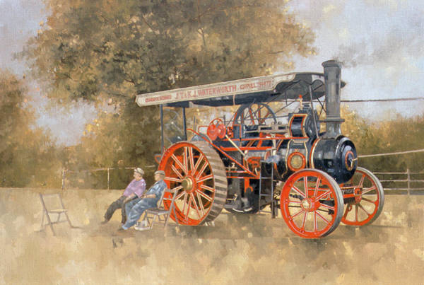 Wall Art - Photograph - Traction Engine At The Great Eccleston Show, 1998 Oil On Canvas by Peter Miller