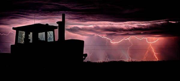Photograph - Tractor Lightening  by David Matthews