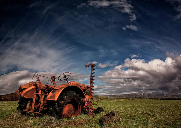 Abandon Wall Art - Photograph - Tractor by ?orsteinn H. Ingibergsson