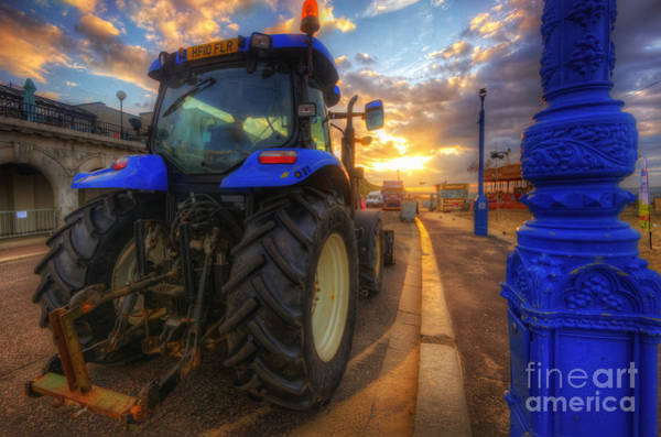 Photograph - Tractor Sunrise - Bournemouth by Yhun Suarez