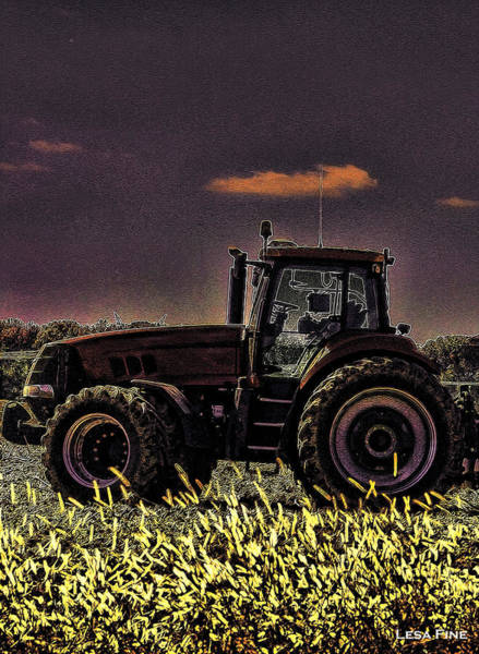Photograph - Tractor Sunset Nbr 4 Art by Lesa Fine