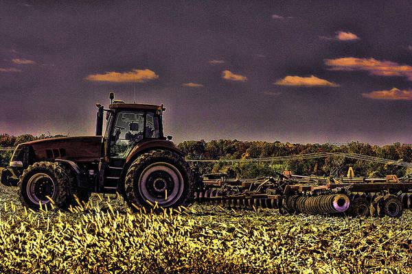 Photograph - Tractors Sunset Art 1 by Lesa Fine