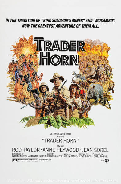 Rod Taylor Photograph - Trader Horn, Us Poster, Left by Everett