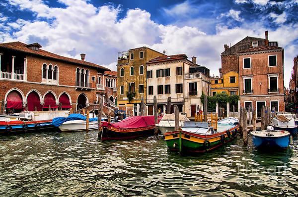 Photograph - Trading Boats In Venice by Brenda Kean