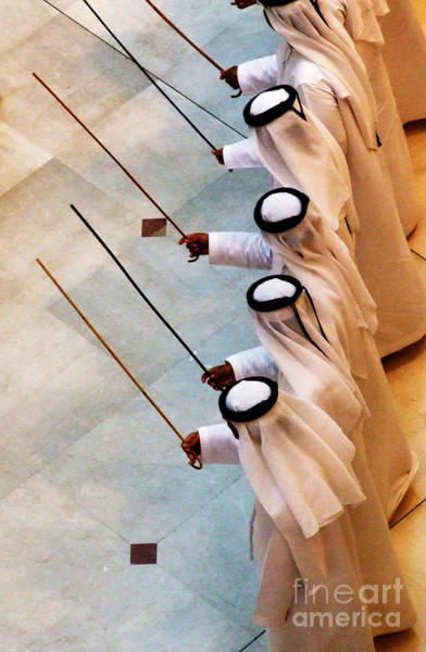 Photograph - Traditional Emirati Men's Dance  by Andrea Anderegg