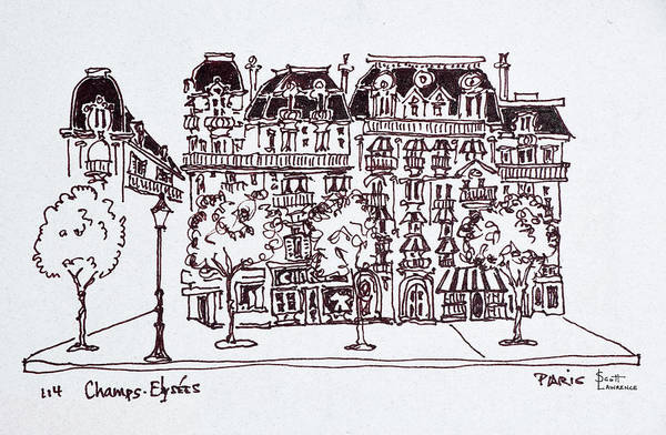 Ink Sketch Photograph - Traditional Haussmann Architecture by Richard Lawrence
