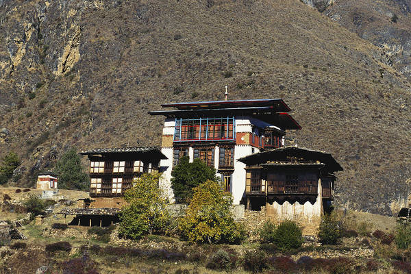 Wall Art - Photograph - Traditional Houses, Bhutan by Alison Wright